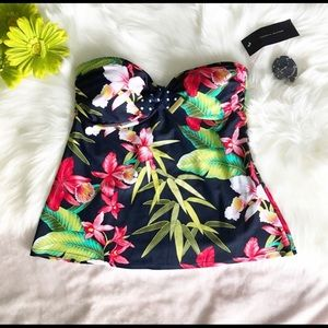Tommy Hilfiger strapless Tankini top Swimwear NEW